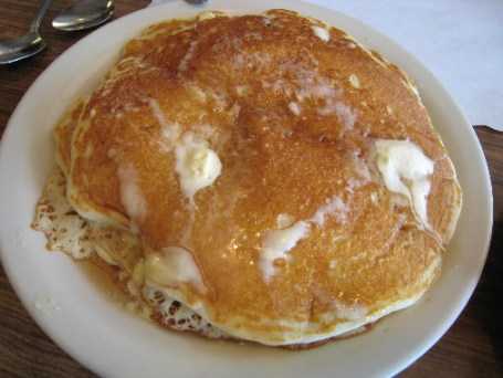 A short stack of Milton's delicious pancakes.