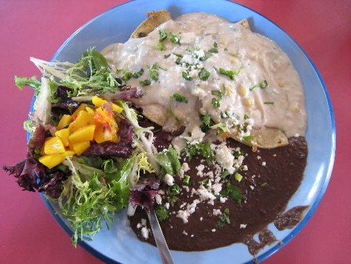 Another special special, duck enchiladas with a green chile cream sauce