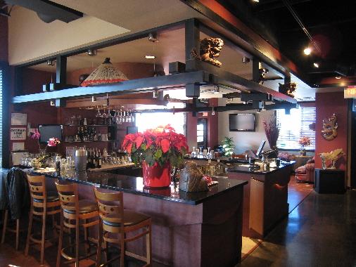 The Pacific Rim's bar area