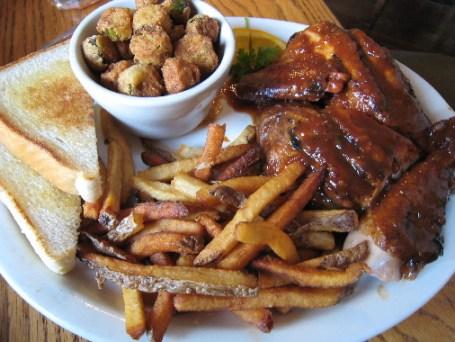 Chicken Dinner-One half pound of barbequed chicken