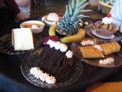 The dessert tray at Tucano's