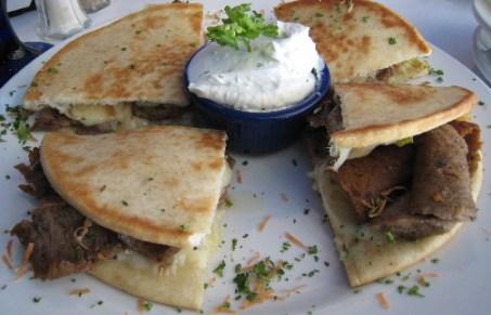 Gyros quesadilla