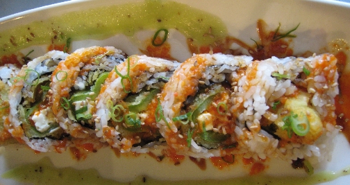 Ornately decorated sushi