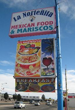 La Nortenita Mexican Food & Mariscos on busy Wyoming Boulevard.