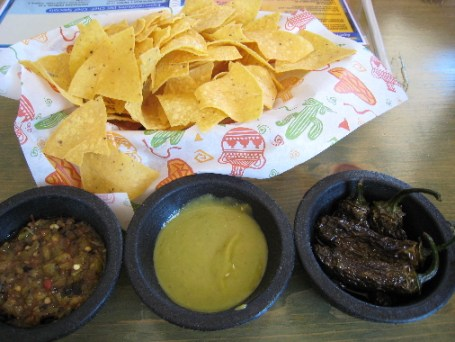 Salsa and chips.