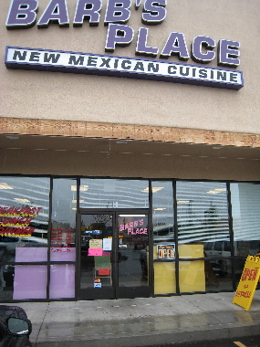 Barb's Place, home of New Mexican cuisine