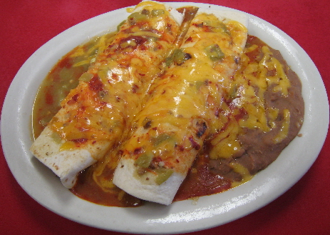 The #11, Beef Burrito Plate