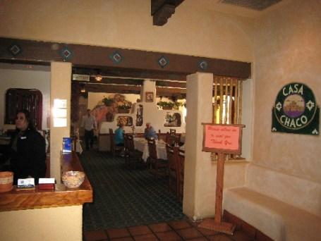 You enter Casa Chaco through the Hilton.
