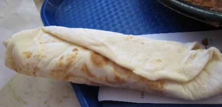 A carne adovada burrito from Golden Pride.