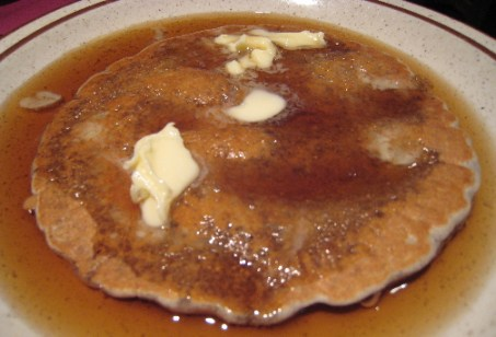 Blue corn pancake