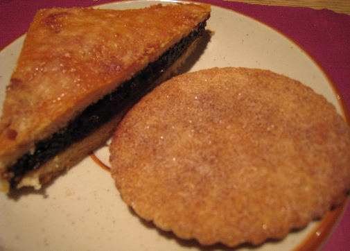 Prune pie and biscochito