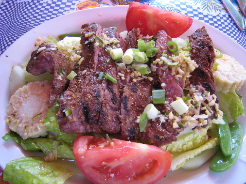 Thai style grilled beef salad