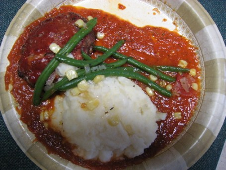 Meatloaf with roasted tomato sauce