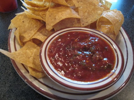 Homemade chips and salsa