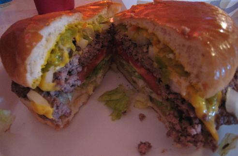 The world famous Buckhorn Burger