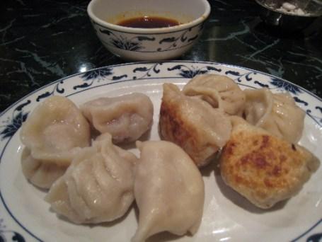 Steamed and fried dumplings