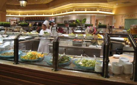 The Bellagio Buffet's action stations