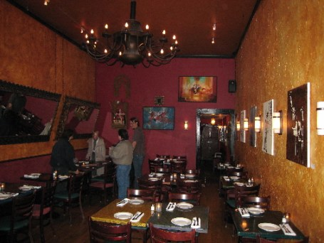 The interior at Destino Nuevo Latino Bistro