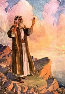 Moses talks to God