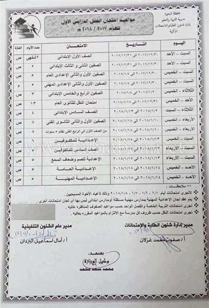 683 1 - نجوم مصرية - موعد امتحانات نصف العام 2017 وموعد أجازة نصف العام لجميع المراحل المختلفة ابتدائي وإعدادي وثانوي والتعليم الفني أيضا