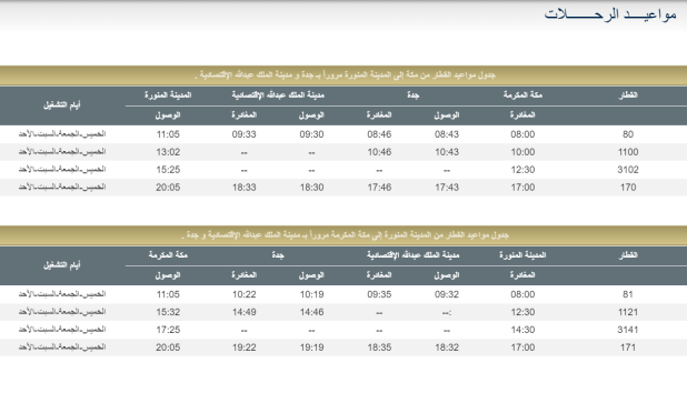 حجز قطار الحرمين مكة المدينة.. أسعار التذاكر