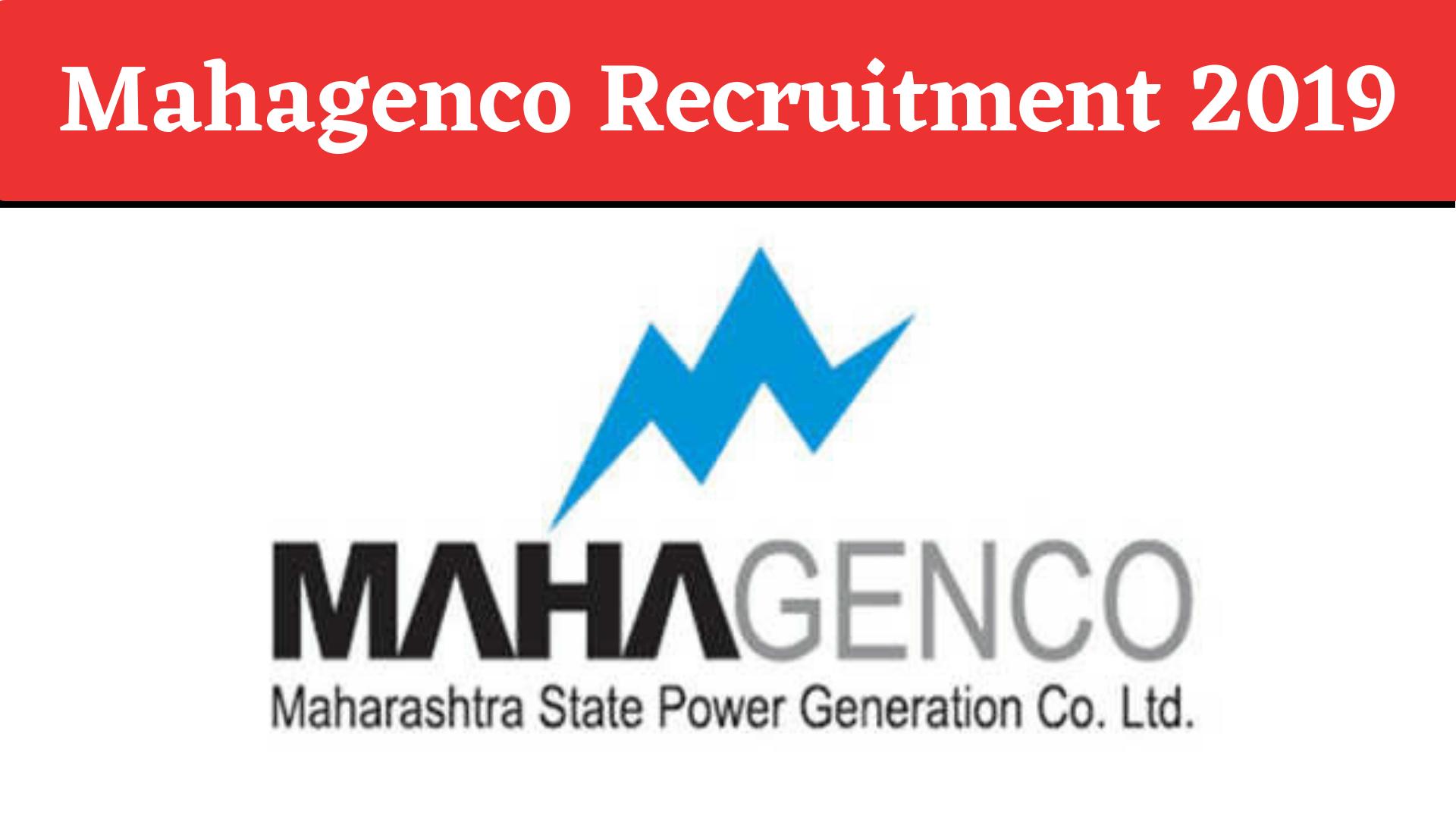 Mahagenco Recruitment 2019