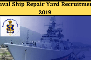 Naval Ship Repair Yard Recruitment 2019