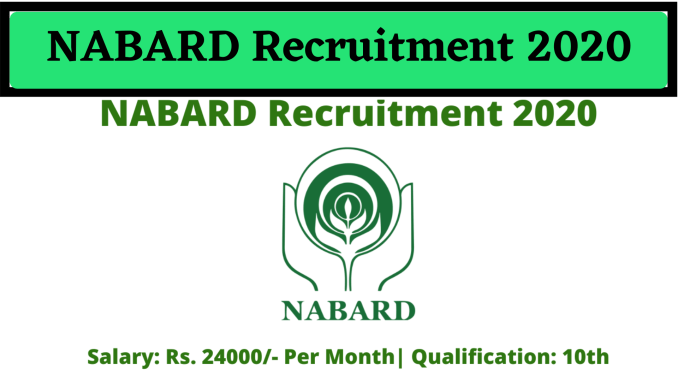 NABARD Recruitment 2020: NABARD stands for National Bank for Agricultural and Rural Development and it…
