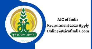 AIC of India Recruitment 2020 Apply Online @aicofindia.com