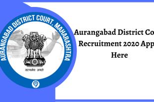 Aurangabad District Court Recruitment 2020 Apply Here