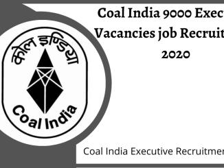 Coal India Recruitment 2020 - Coal India Limited