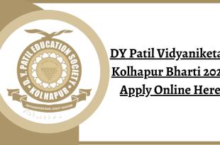 DY Patil Vidyaniketan Kolhapur Bharti 2020 Apply Online Here