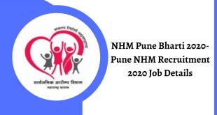 NHM Pune Recruitment 2020 Job Details