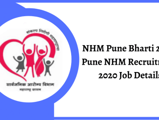NHM Pune Recruitment 2020 Job Details