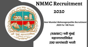 NMMC Recruitment 2020 _ NMMC Bharti 2020 for 590 vacancies