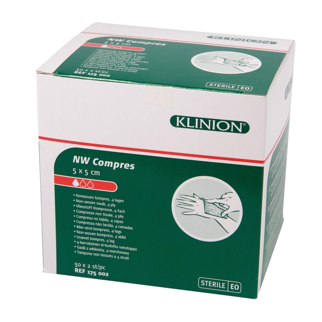 Emballage compresses en non tissé stériles
