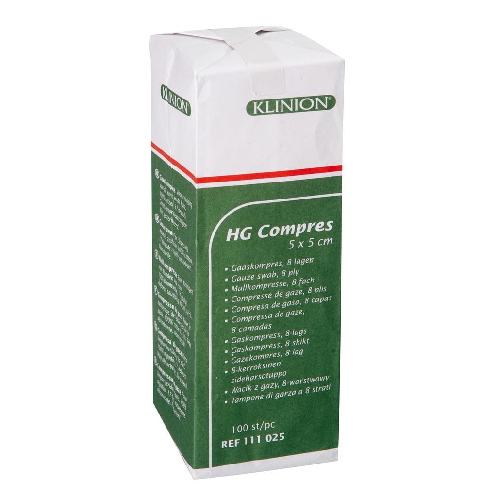 Emballage compresses de gaze non stériles
