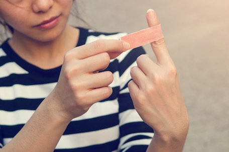 Exemple de blessure du doigt