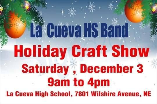 La Cueva Band 2016 Holiday Craft Fair Flyer