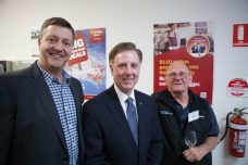 Peter, David Morris MP, and Barry