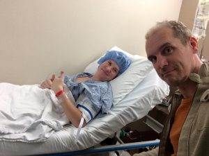Pre-Op with my husband