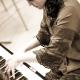 Agnes Krumwiede am Klavier
