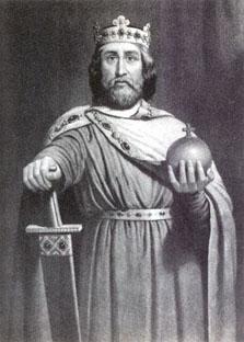 Karl den Store, eller Charlemange, bilde tjuvlånt av nndb