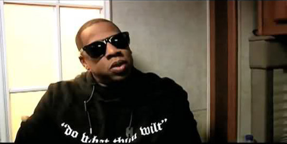 jay z wears a sweatshirt emblazoned with the satanic slogan do what though wilt