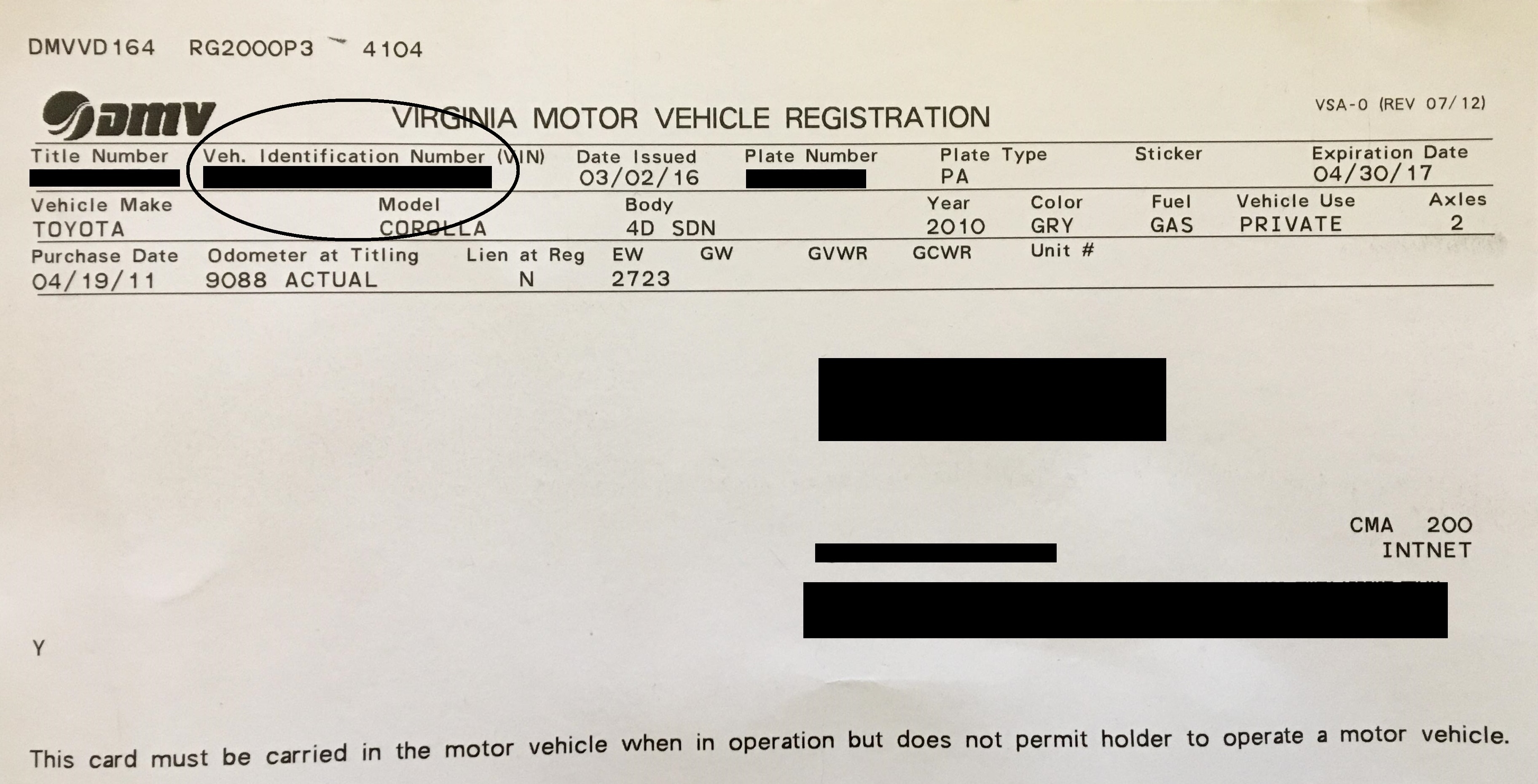Pa Vehicle Registration Renewal