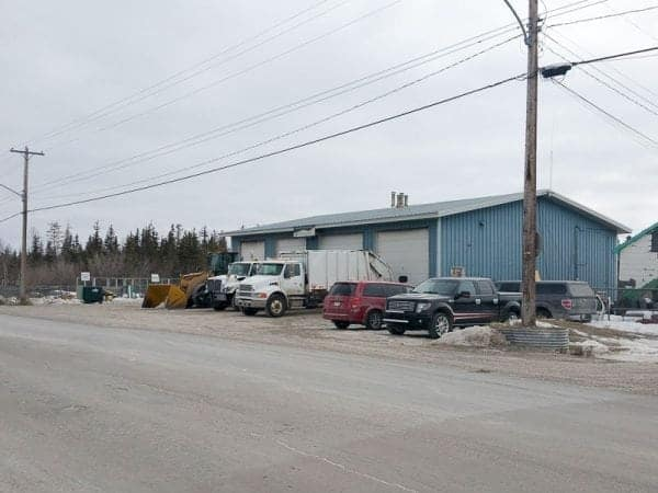 The current public works shop in Behchoko has four bays. The community has been approved for funding under the Small Communities Fund to expand the shop. Photo courtesy of Larry Baran