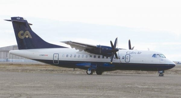 The North West Company has purchased an air carrier and is terminating its cargo contracts with the Kivalliq- and Manitoba-servicing carrier Calm Air. - NNSL file photo