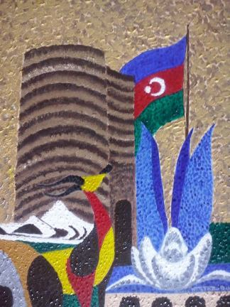 FOND MEMORIES OF BAKU, AZERBAIJAN. Acrylic on canvas. May 30, 2014