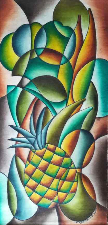 Title About Time. Artist Nuwa Wamala Nnyanzi. Medium Batik. Code NWN011WEB2010