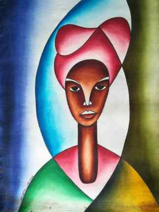 Title Beautiful Uganda. Artist Nuwa Wamala Nnyanzi. Medium Batik. Code NWNWEB0212012